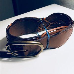 Ralph Lauren Tan Weave Belt
